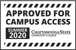 campus access sign