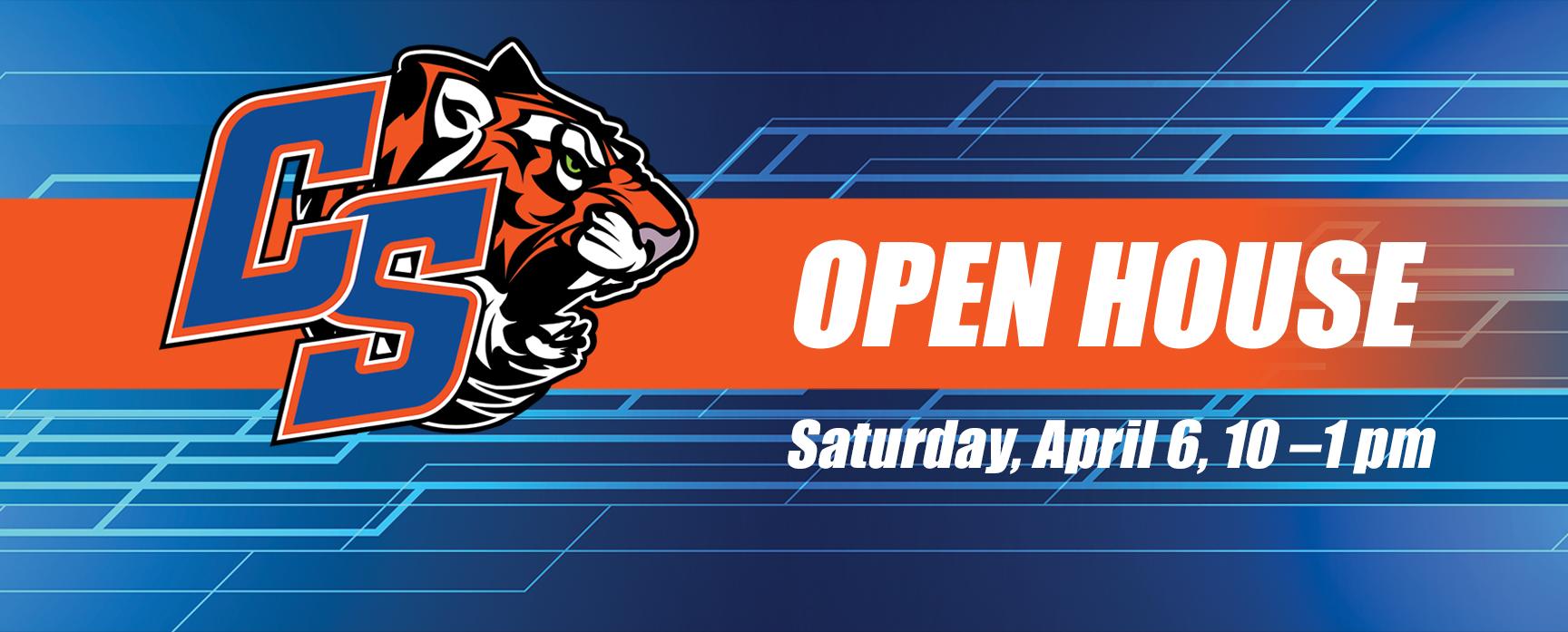 Open House, Saturday April 6th (10am -1pm)