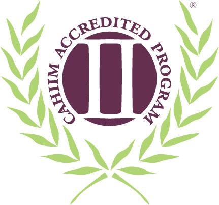 CAHIIM accredited seal