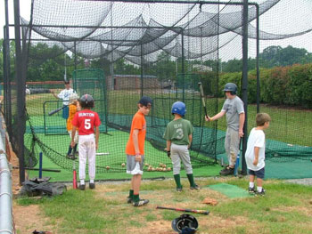 Batting tunnel at camp