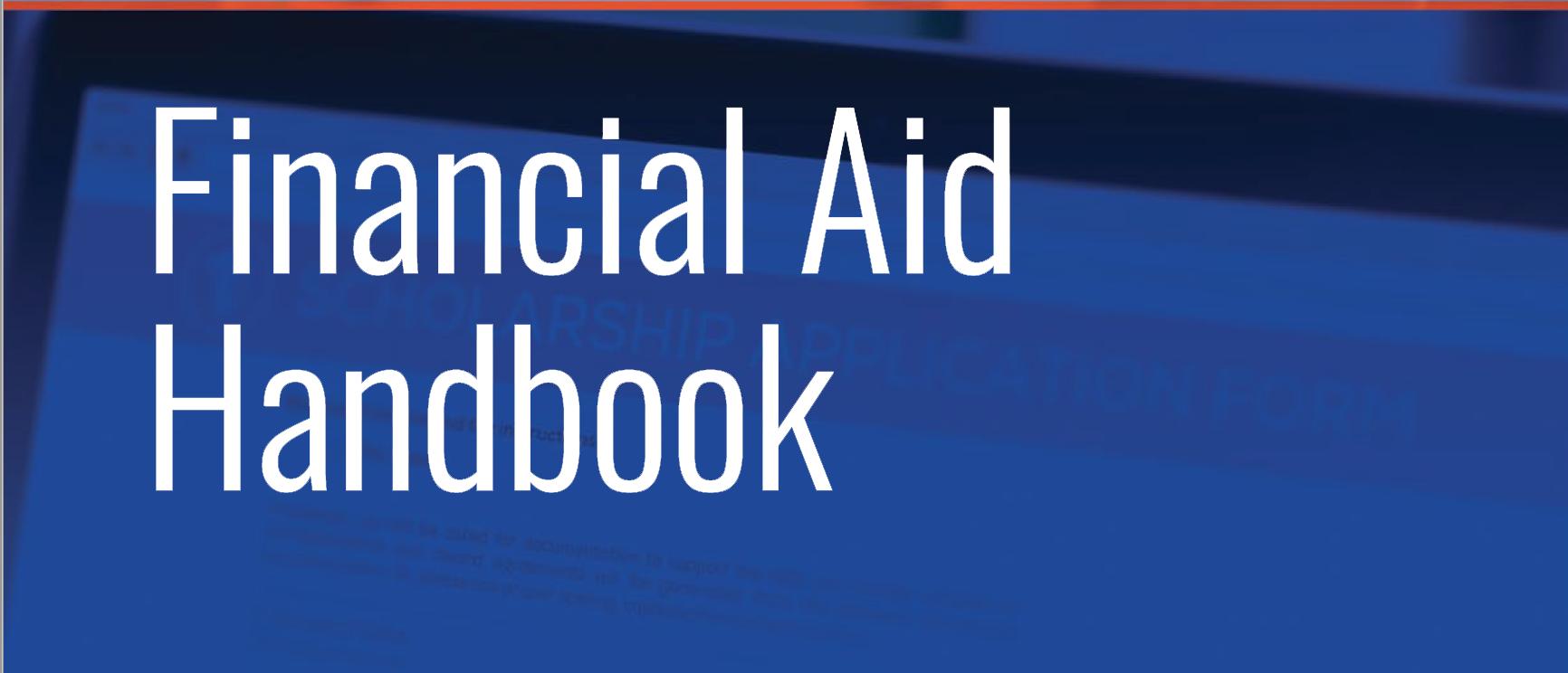 financial aid handbook image