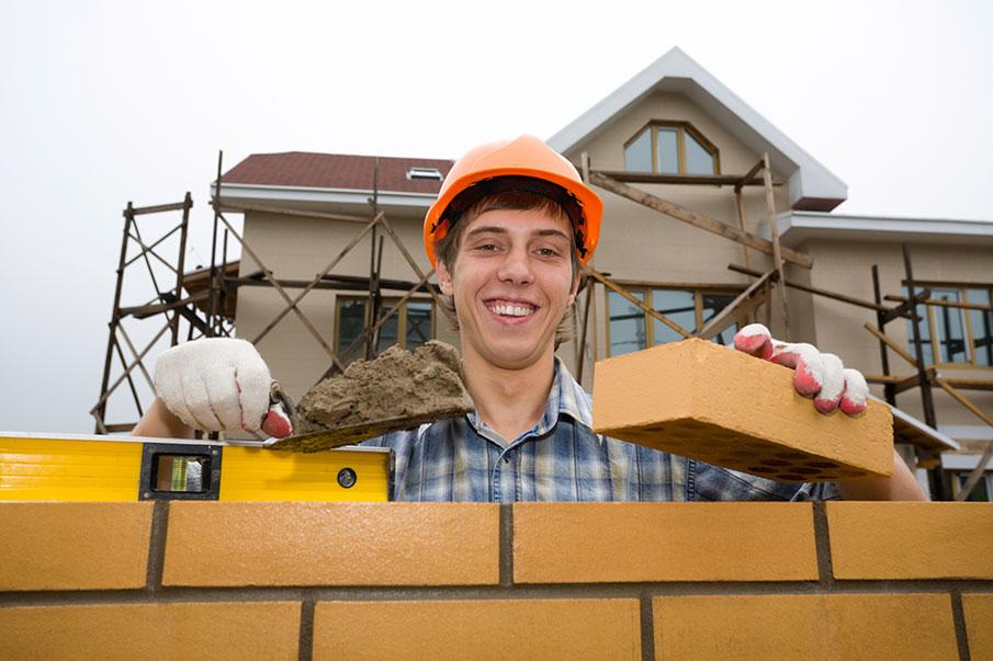 Photo of a brick mason.