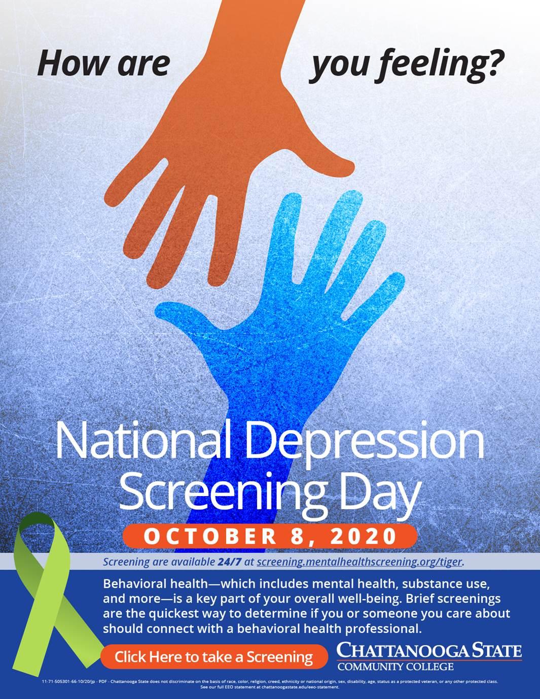 national depression day screening