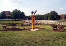 Deer Crossing Sculpture