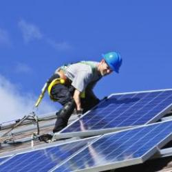 Photo of a Solar Photovoltaic Installer.