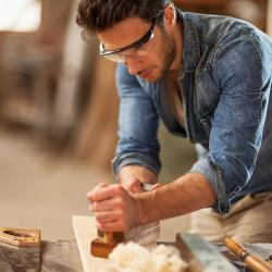 Photo of a carpenter.