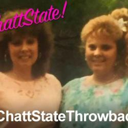 Photo showing two ChattState alumni from the 1990s