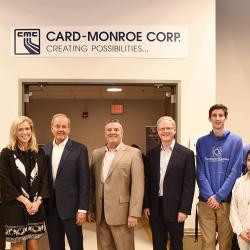 card Monroe lab dedication