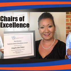 ashley thiers, angela mcclister & brittany williams were named 2020-21 faculty chairs of excellence