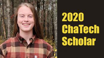 caleb grimes received $1000 chatech scholarship