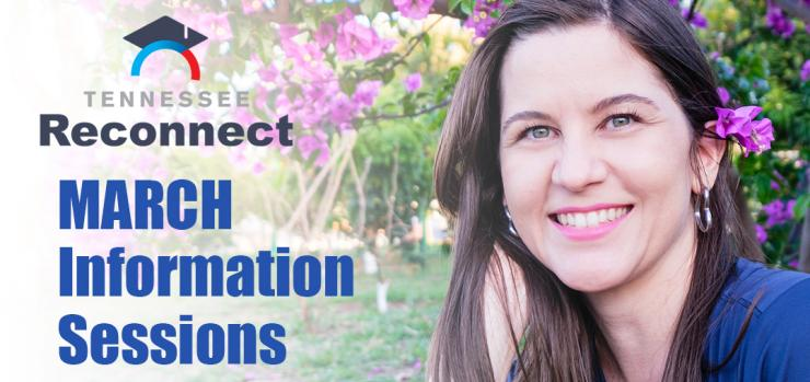 a woman thinking about attending a tn reconnect information session